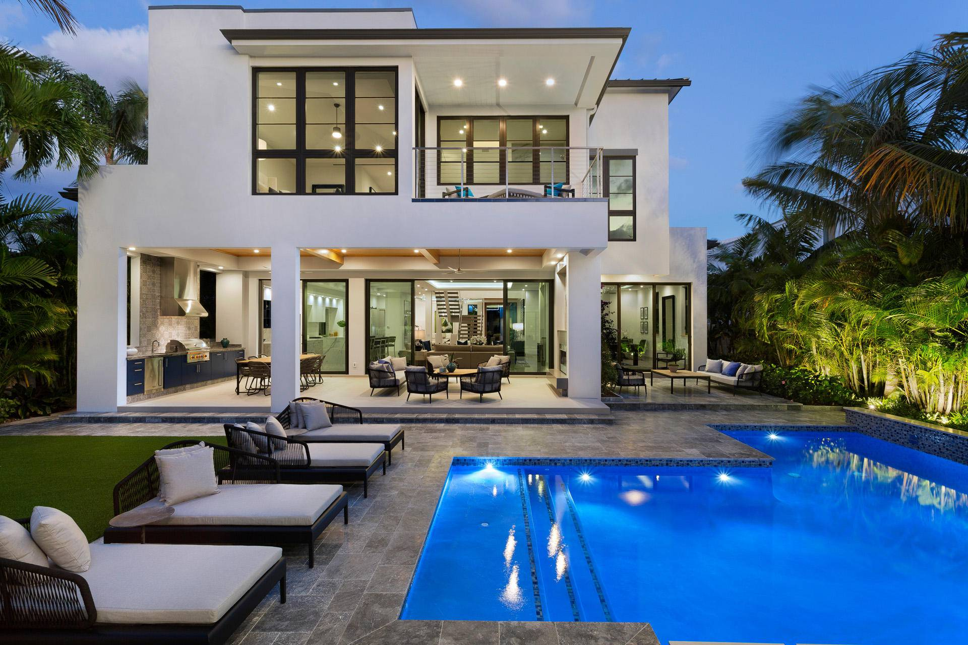 Ocean Boulevard contemporary masterpiece in Delray Beach, Florida, luxury houses