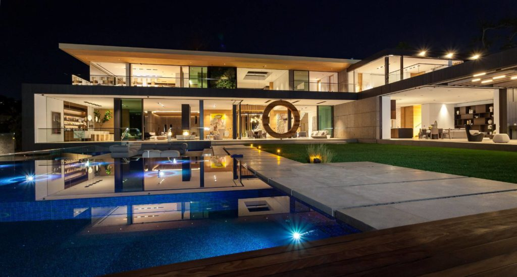 luxury house, modern home, Bentley Circle modern mansion