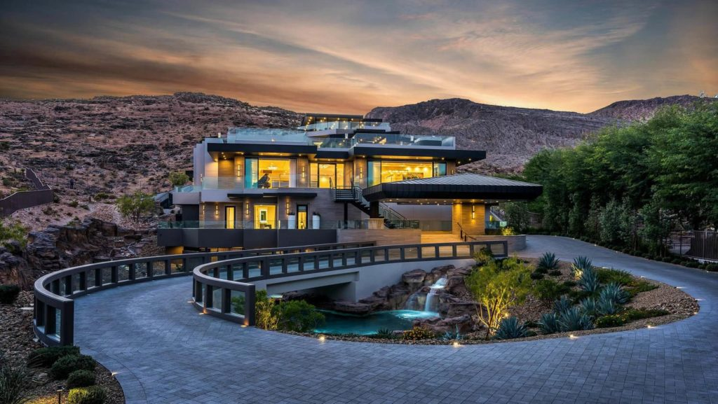 Modern Mansion in Las Vegas, luxury houses