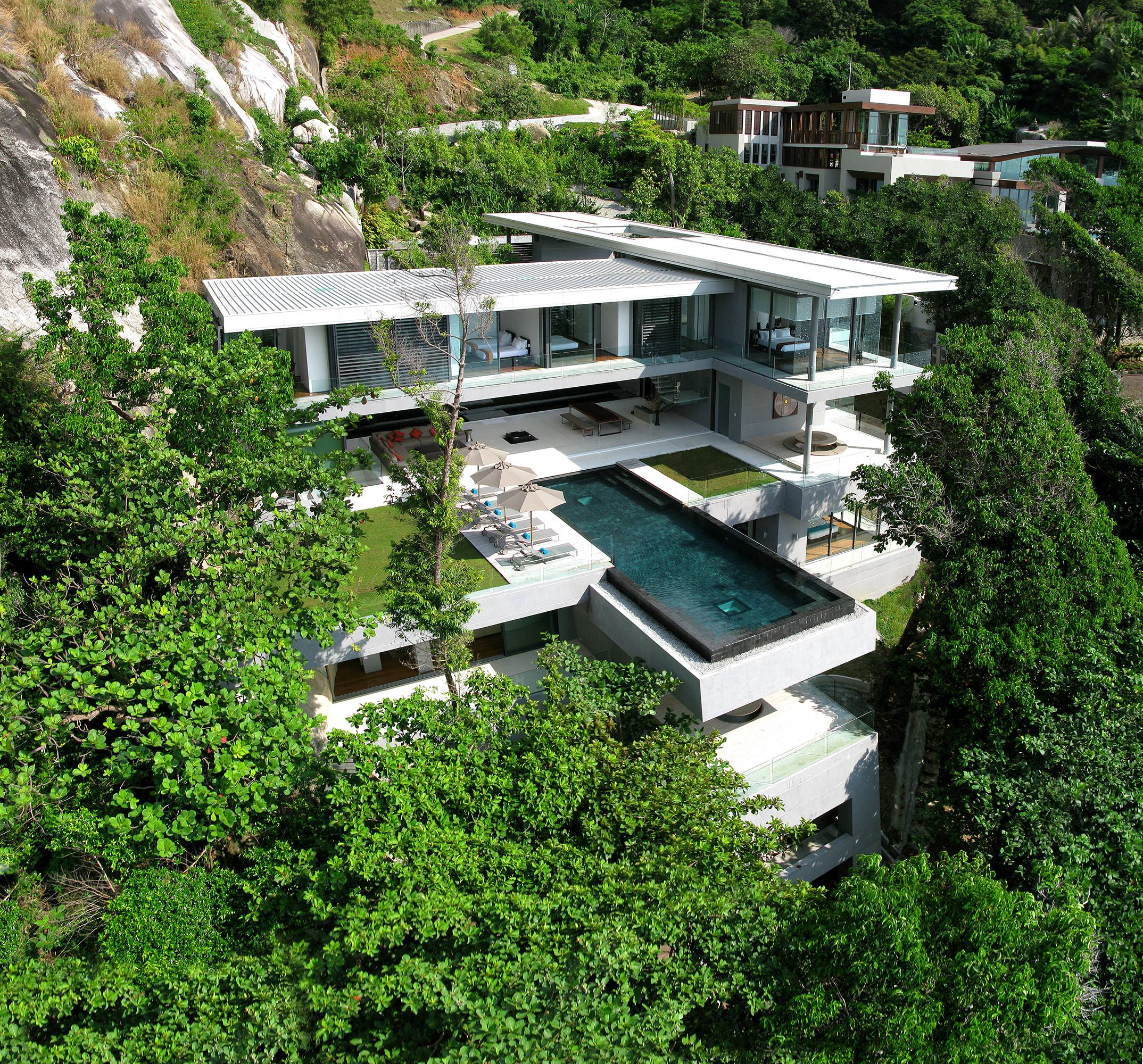 Amazing Seacliff Villa Amanzi in Phuket, Thailand by Architect Firm Original Vision Studio, luxury houses