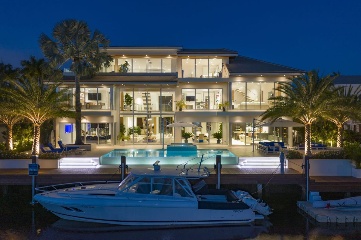 Modern Masterpiece with Deep Water Frontage on An Extremely Canal in Florida