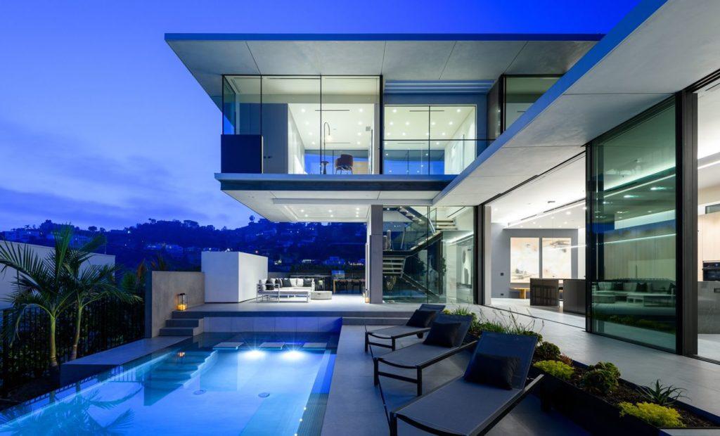 Hollywood Hills Modern Home, luxury house