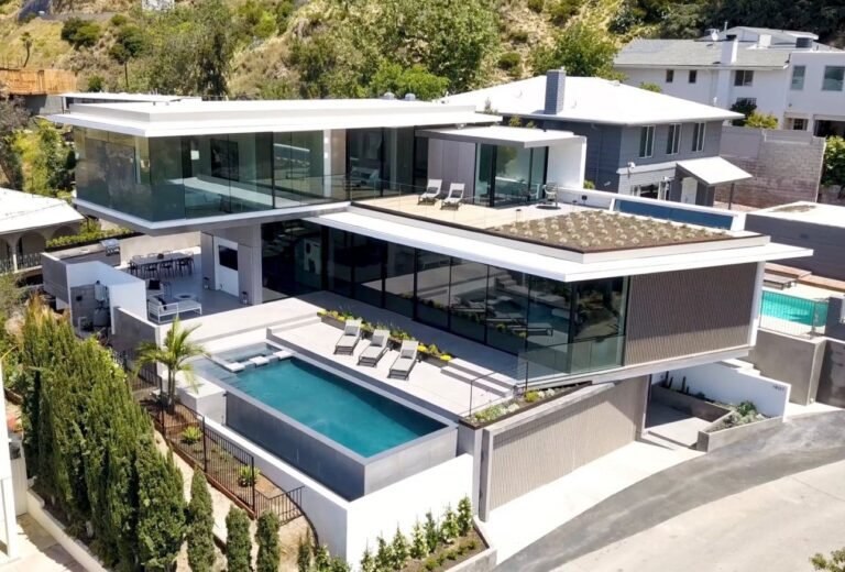 Hollywood Hills Modern Home, luxury house