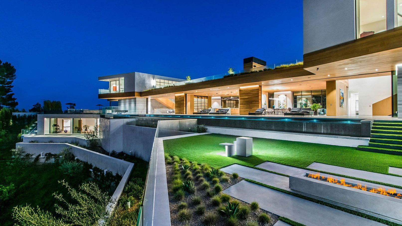 Mansion in Los Angeles, luxury house