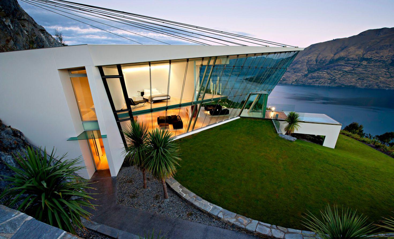 Villa in New Zealand, luxury house