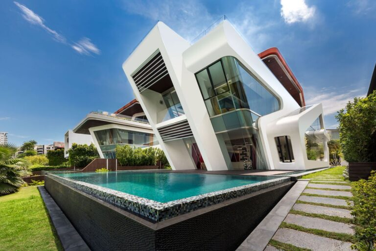 luxury house, modern home, Villa in Singapore