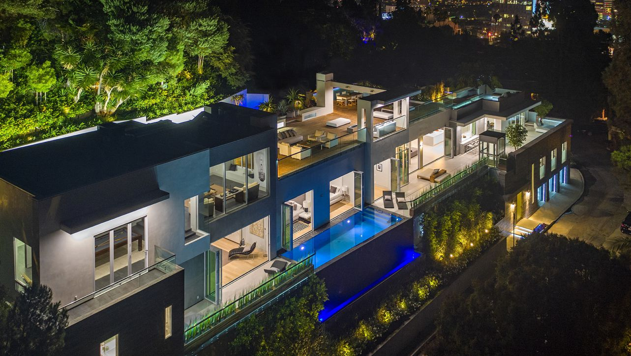 Hollywood Hills Modern Home, luxury house, modern home