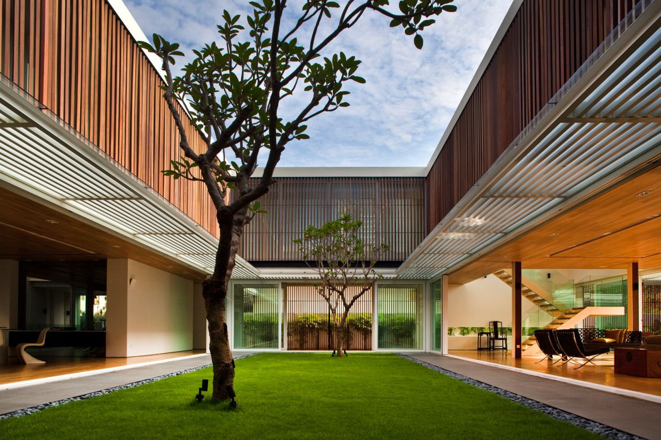 Enclosed Open House in Singapore by Wallflower Architecture + Design