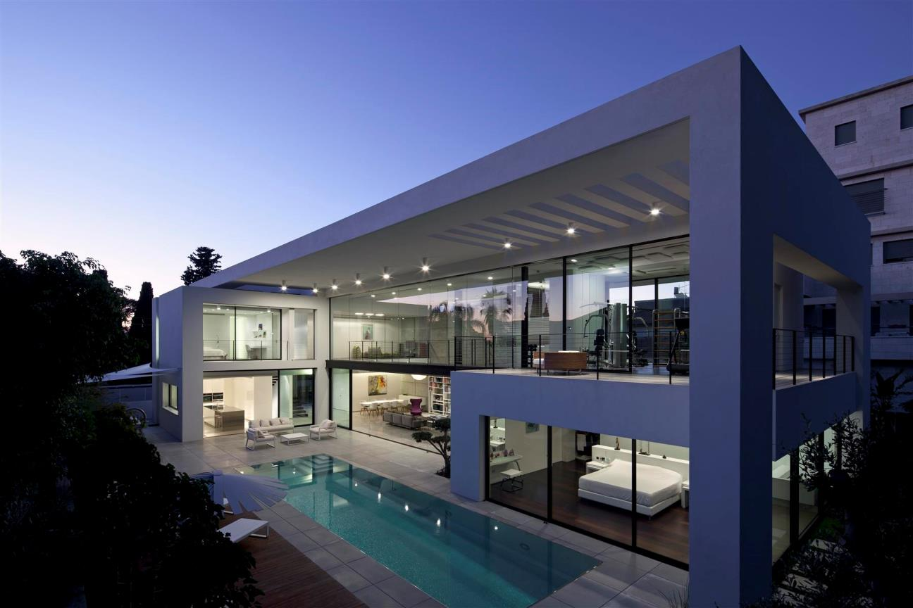 luxury house, Modern House in Israel