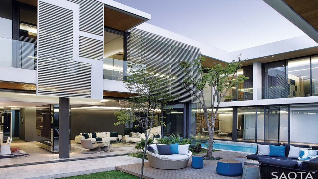 luxury houses, modern homes, Modern Villa in South Africa