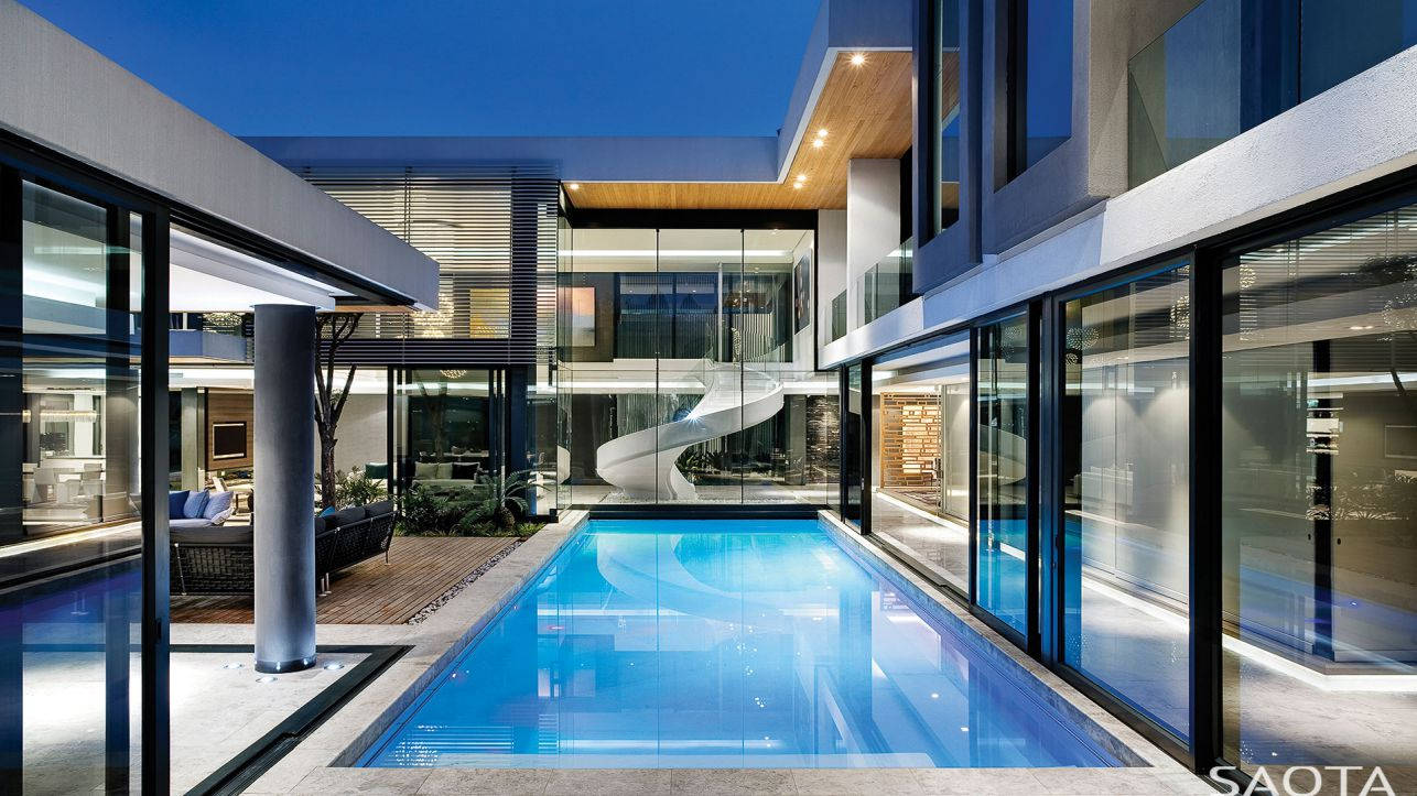 Stunning Houghton Modern Villa in South Africa by SAOTA