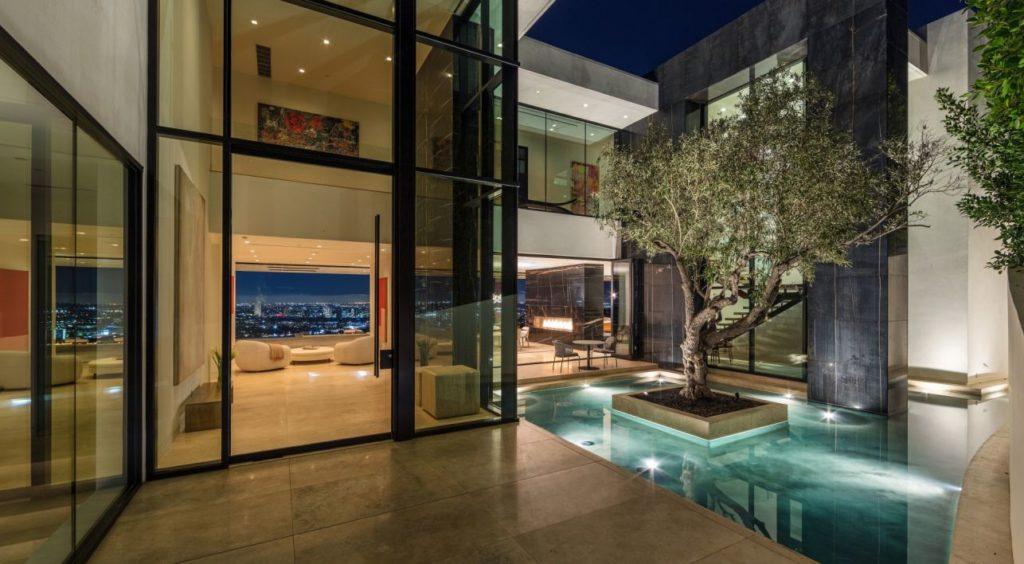 luxury house, american homes, Sunset Strip Modern Home