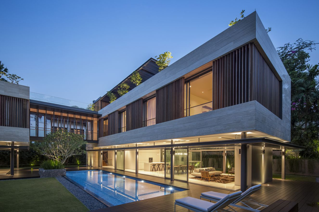 Secret Garden Modern House  in Singapore by Wallflower Architecture + Design