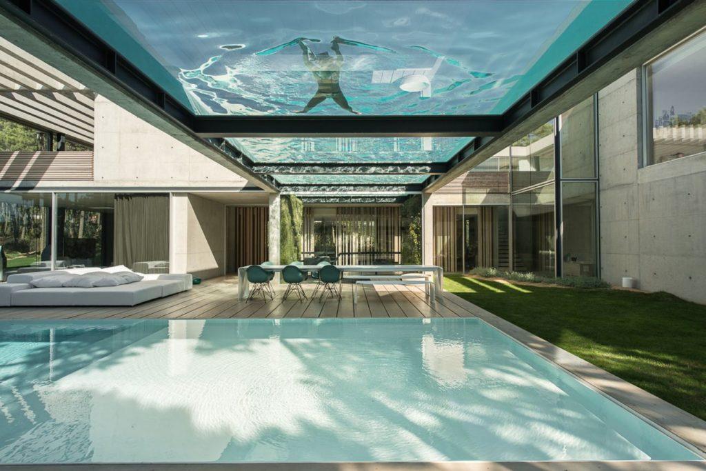 luxury house, modern home, portugal villas, the wall hosue