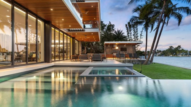 New Listing – $24,500,000 for Palm Island Modern Mansion in Miami Beach