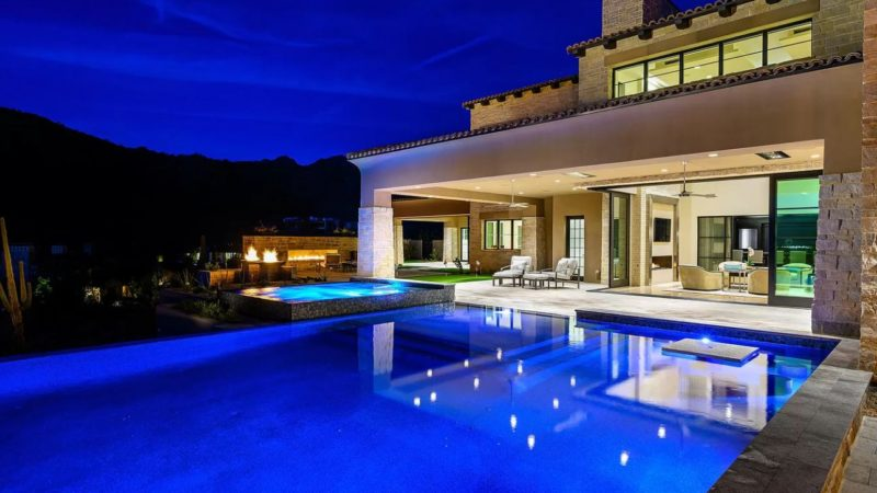 Just Completed – Stunning Modern Ranch Hacienda Estate Listed for $9,495,000