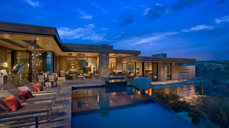 Inside A Scottsdale Home with Sweeping Views of Mountains Offered at $3,795,000