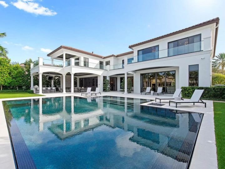 A Modern Classicism Mansion in Boca Raton offered at $11,250,000