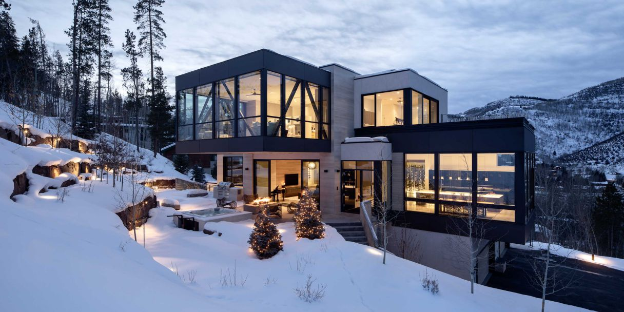 Vail Modern Mountain Home in Colorado by Brandon Architects