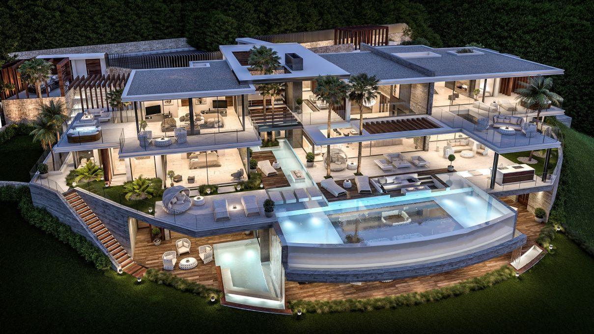 Superb Design Concept for Detached Villa in La Zagaleta, Spain