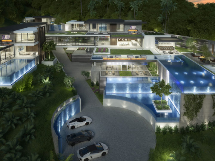 1230-1250 La Collina Modern Mansion Concept by CLR Design Group