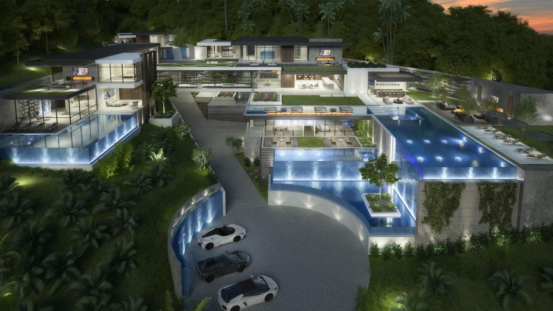 1230-1250 La Collina Modern Mansion Concept by IR Architects