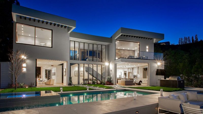 Modern Lake View Estate in Bel Air returns Market for $8.5 Million