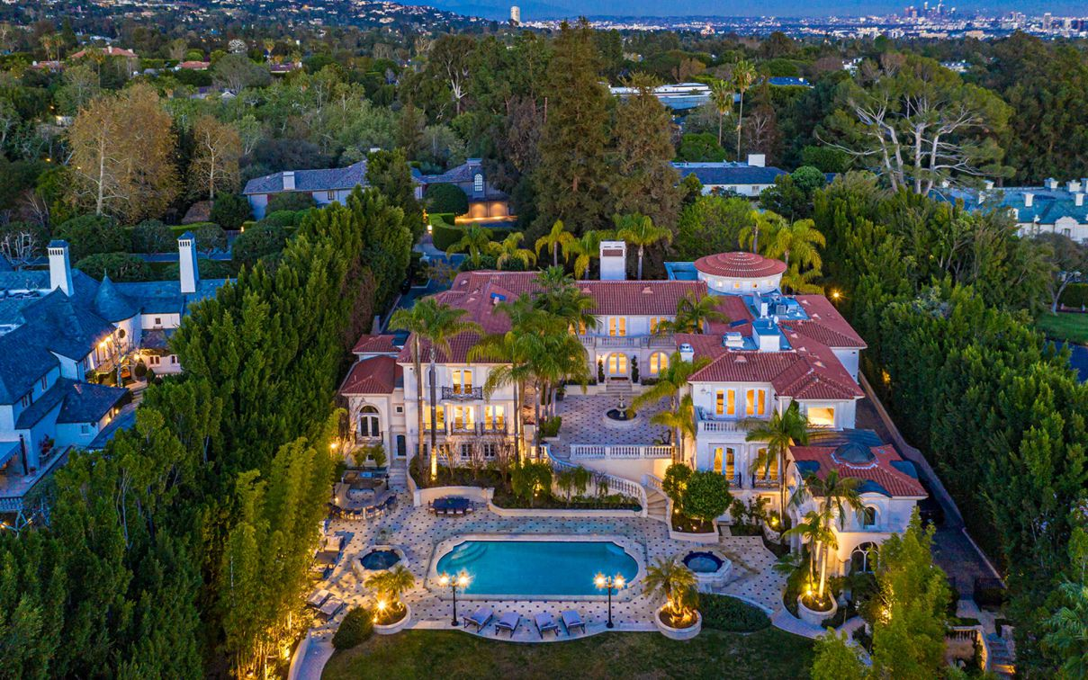Trophy Compound on the Most Prime Street in Bel Air returns for $46 Million