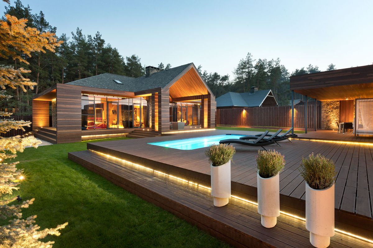 Chalet Relax Park Verholy in Poltava region, Ukraine by YOD design group
