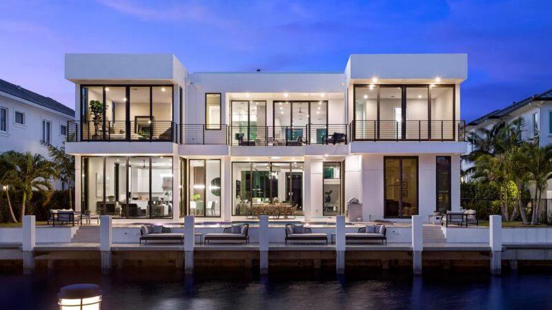 Boca Raton Mid-Century Modern-inspired Deepwater Estate listed for $6 Million