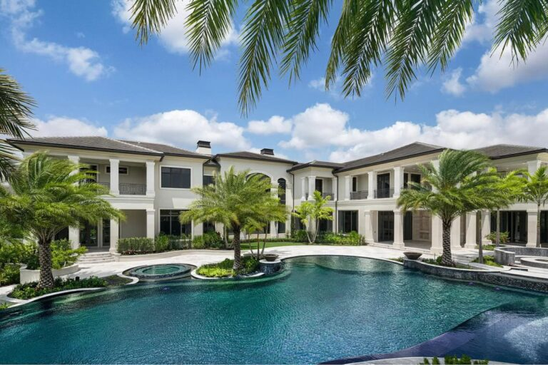 Sophisticated Rockybrook Estate in Delray Beach, modern home, florida