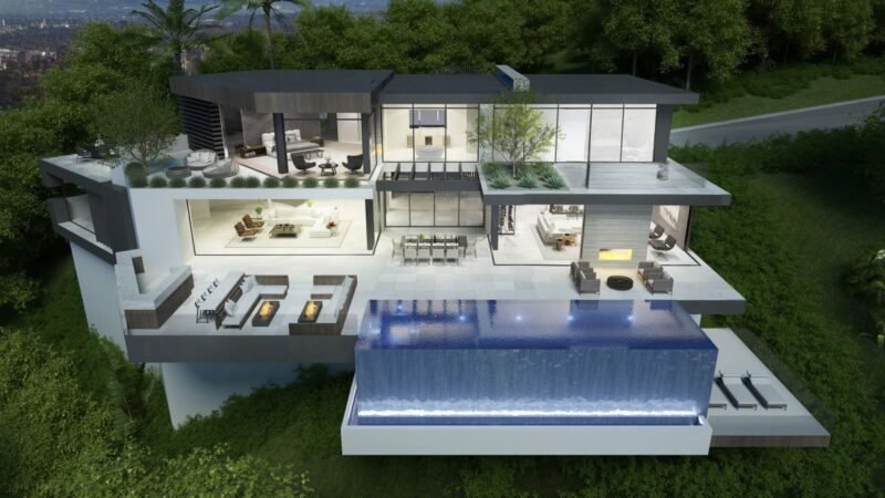 Beverly Crest Modern Home Design Concept by IR Architects