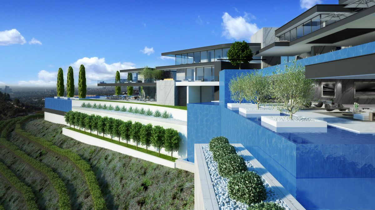 Beverly Hills Cedarbrook Modern Mansion Concept by IR Architects
