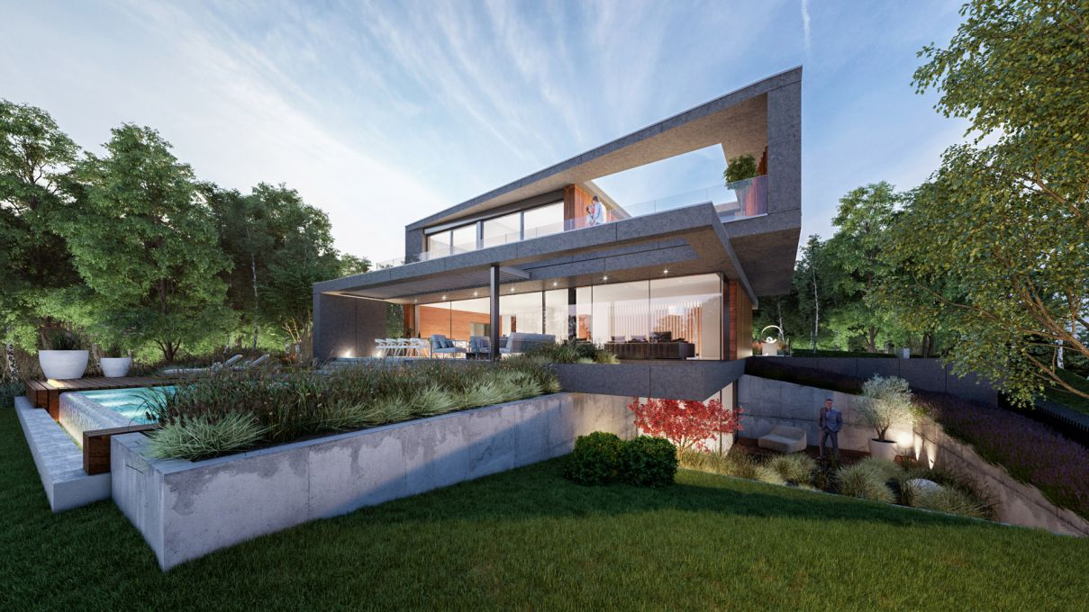Budapest BB Villa Design Concept by Toth Project
