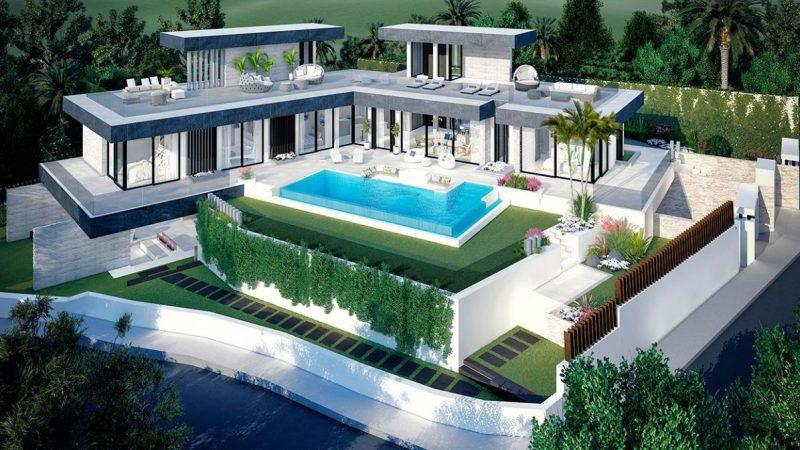 Design Concept for €1.8 Million Benahavis Modern Villa