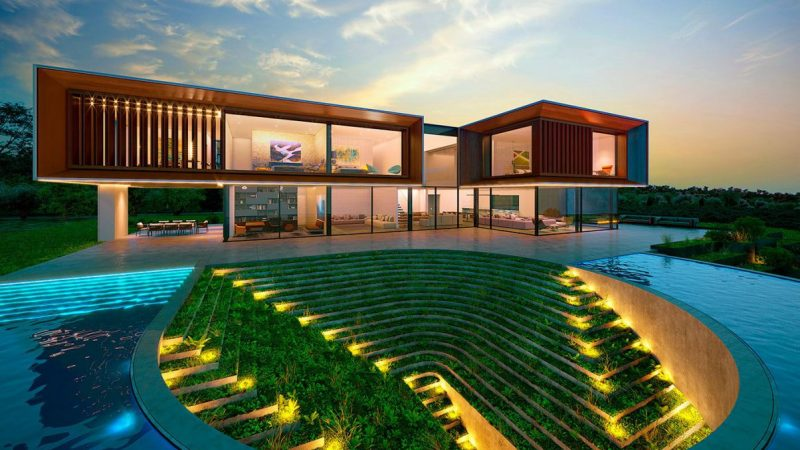 Design Concept of House on The Hill by Alexander Zhidkov Architect