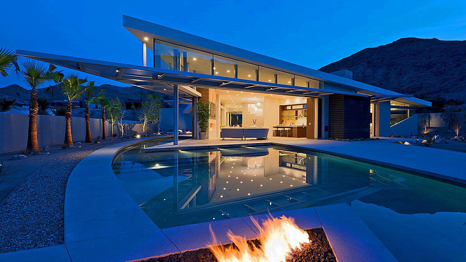 Edgy Modern Desert House in La Quinta, CA by Brian Foster Designs
