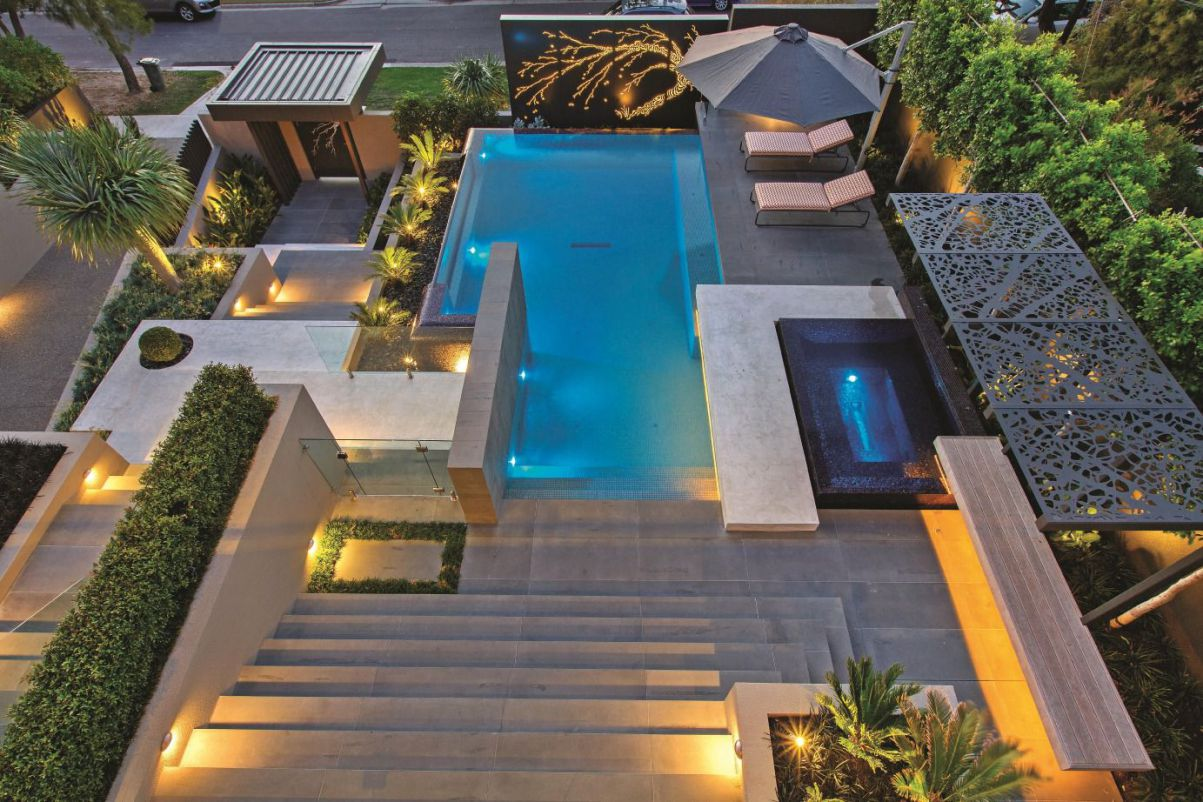 Resort Style Modern Landscaping in Melbourne, Australia by COS Design