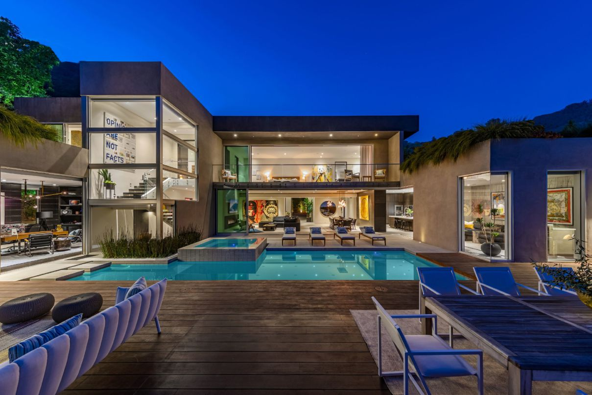 1709 Rising Glen - A Modern Estate features the Pinnacle of California Style for Sale