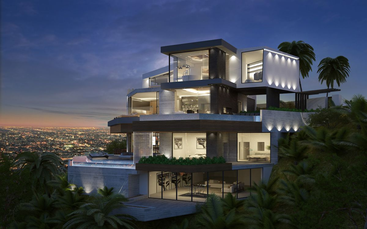 Angelo View Modern Home Design Concept by IR Architects, Los Angeles