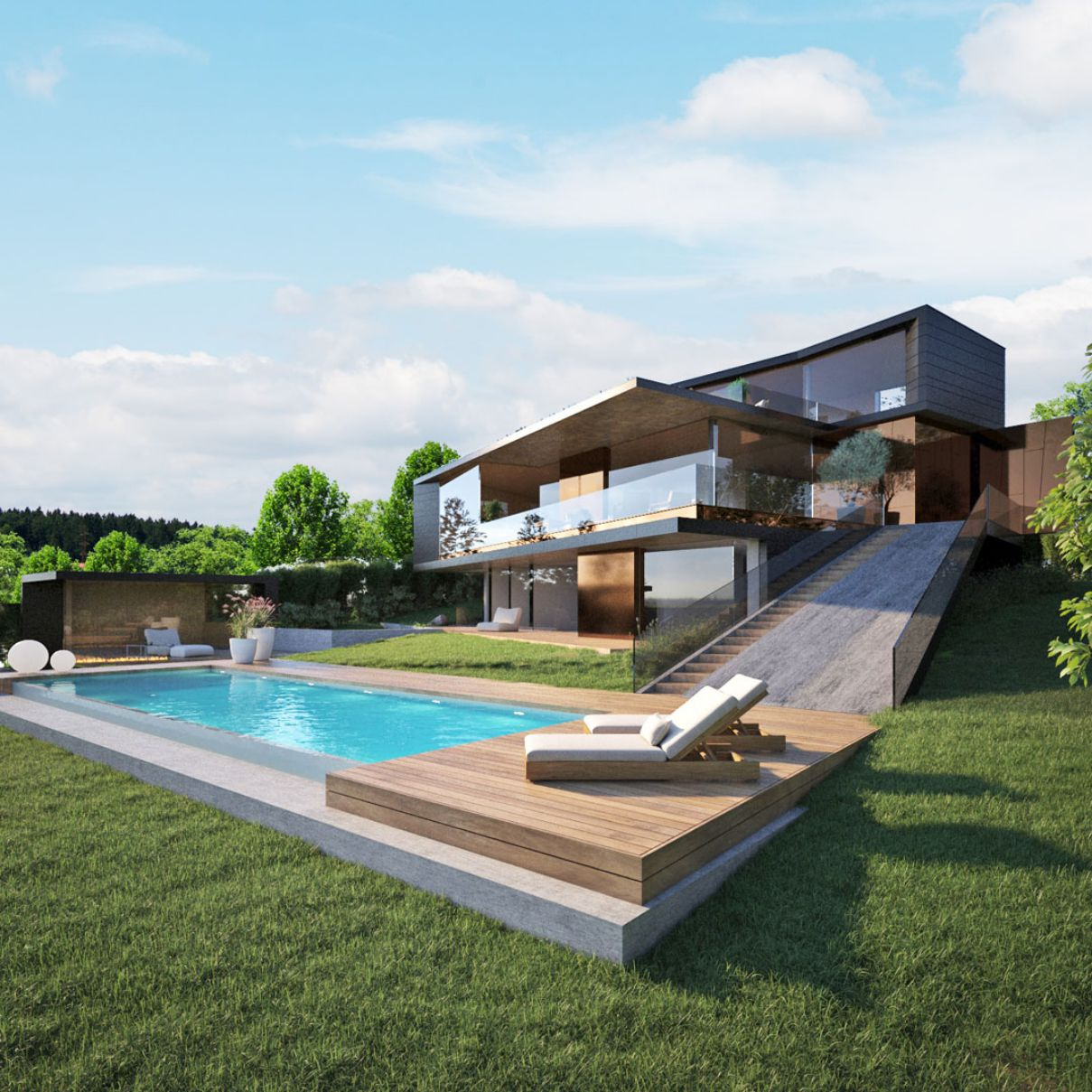 Budapest DZS Villa Design Concept by Toth Project
