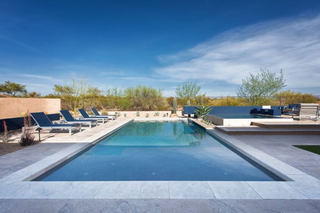 Contemporary Pool in Scottsdale, Arizona by Premier Paradise