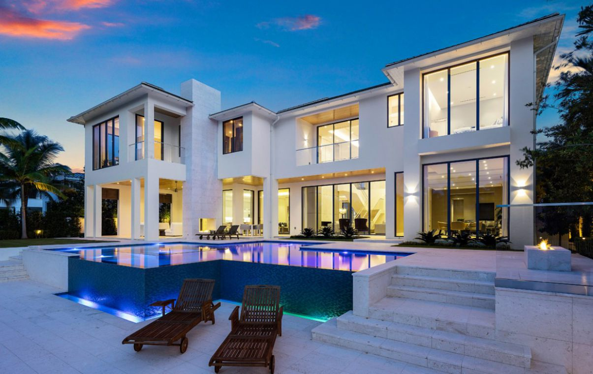 Alexander Palm Modern Home in Boca Raton by Stofft Cooney Architects