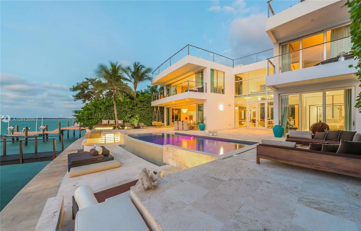 Miami Beach's San Marino Contemporary Gem for Rental at $95,000