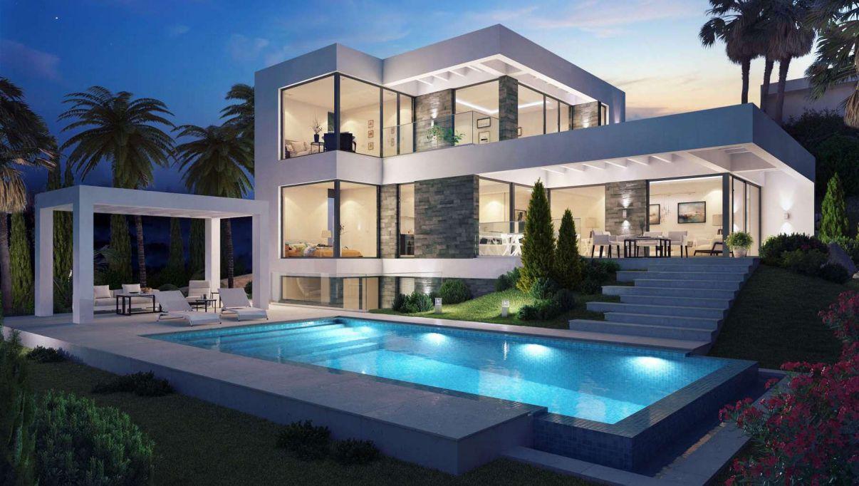 Modern Villa Design Concept in El Mirador del Paraiso, Benahavis, Spain