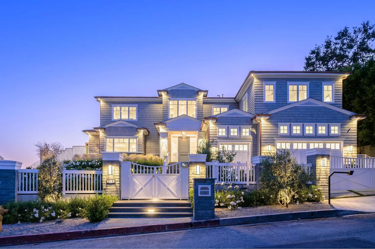 Paseo Miramar Residence in Prime Pacific Palisades for Sale