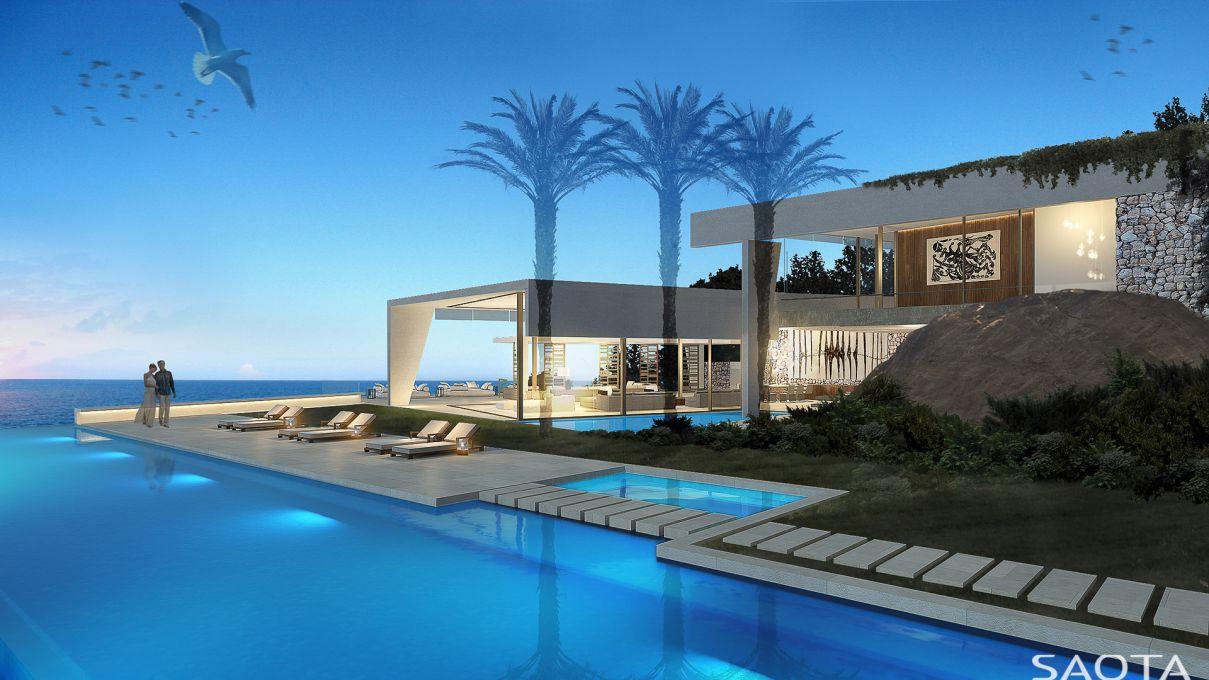 Seacliff Modern Villa Concept in Cape Sawan, Thailand by SAOTA