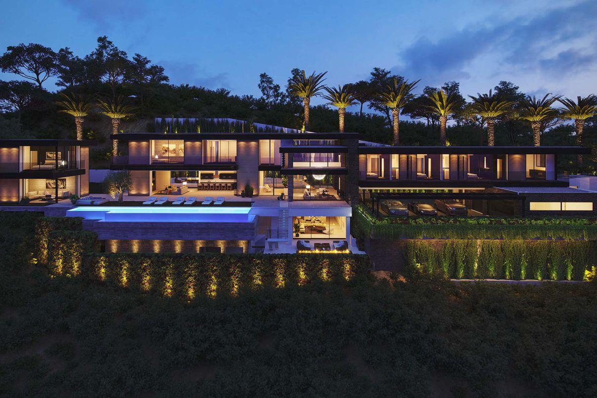 Stanley Modern Mansion Concept, Los Angeles by David Hiller Studio