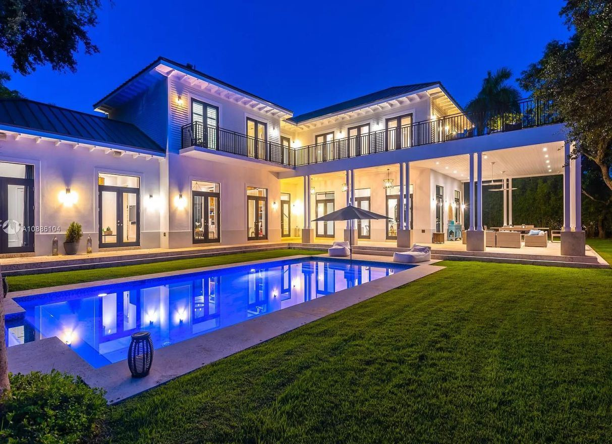 Stunning Hamptons Style Residence in Miami for Sale at $6.2 Million