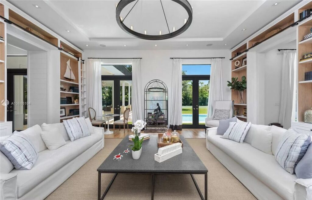 Stunning Hamptons Style Residence in Miami for Sale